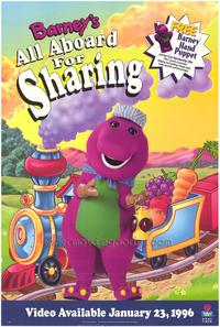 Barney's All Aboard For Sharing - 27 x 40 Movie Poster - Style A