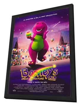 Barney's Great Adventure - 27 x 40 Movie Poster - Style A - in Deluxe Wood Frame