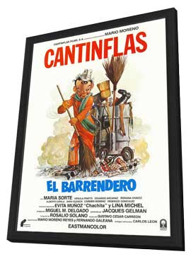 Barrendero, El - 11 x 17 Movie Poster - Mexican Style A - in Deluxe Wood Frame