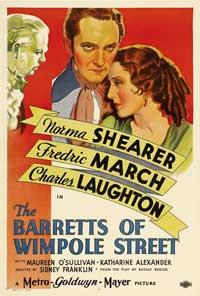 The Barretts of Wimpole Street - 43 x 62 Movie Poster - Bus Shelter Style A