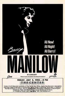 Barry Manilow - 11 x 17 Music Poster - Style B