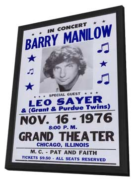 Barry Manilow - 11 x 17 Music Poster - Style A - in Deluxe Wood Frame