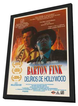 Barton Fink - 27 x 40 Movie Poster - Brazilian Style A - in Deluxe Wood Frame