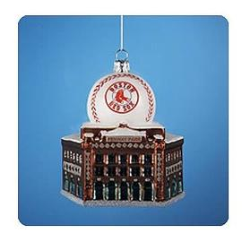 Baseball - MLB Red Sox Logo Fenway Park with Ball Ornament