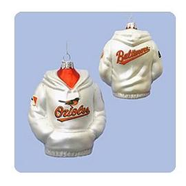 Baseball - MLB Orioles 4 1/2-Inch Hoodie Sweatshirt Glass Ornament