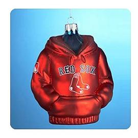 Baseball - MLB Red Sox 4 1/2-Inch Hoodie Sweatshirt Glass Ornament