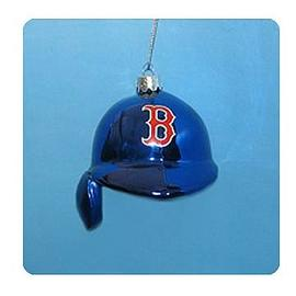 Baseball - MLB Red Sox 5-Inch Batting Helmet Glass Ornament