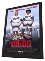 BASEketball - 11 x 17 Movie Poster - Style B - in Deluxe Wood Frame