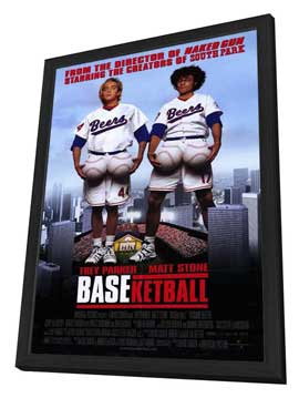 BASEketball - 27 x 40 Movie Poster - Style A - in Deluxe Wood Frame