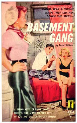 Basement Gang - 11 x 17 Retro Book Cover Poster