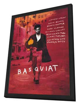 Basquiat - 27 x 40 Movie Poster - Style A - in Deluxe Wood Frame