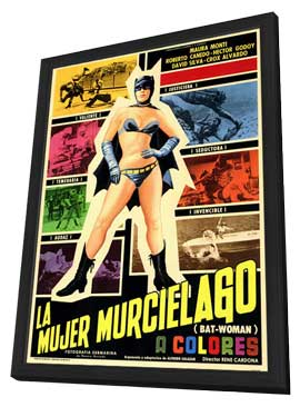 Bat-Woman - 11 x 17 Poster - Foreign - Style A - in Deluxe Wood Frame