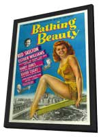 Bathing Beauty - 11 x 17 Movie Poster - Style C - in Deluxe Wood Frame