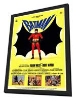 Batman - 27 x 40 Movie Poster - Italian Style B - in Deluxe Wood Frame