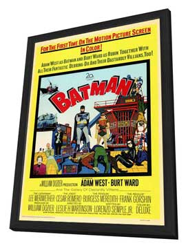 Batman - 11 x 17 Movie Poster - Style A - in Deluxe Wood Frame