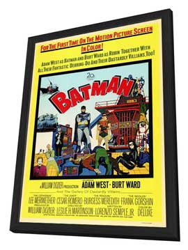 Batman - 27 x 40 Movie Poster - Style A - in Deluxe Wood Frame