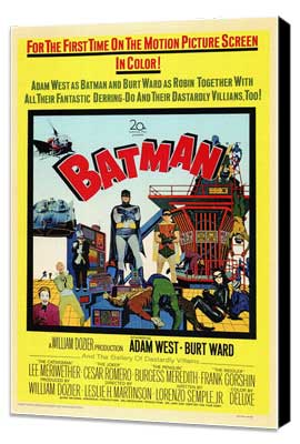 Batman - 11 x 17 Movie Poster - Style A - Museum Wrapped Canvas