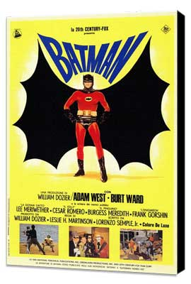 Batman - 27 x 40 Movie Poster - Italian Style B - Museum Wrapped Canvas