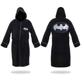 Batman - Black and Silver Hooded Cotton Bath Robe