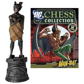 Batman - DC Superhero Man-Bat Black Rook Chess Piece with Magazine