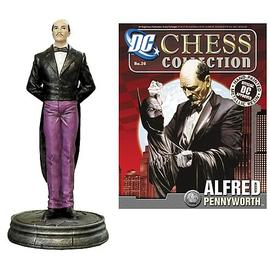 Batman - Alfred Pennyworth Pawn Chess Piece with Magazine