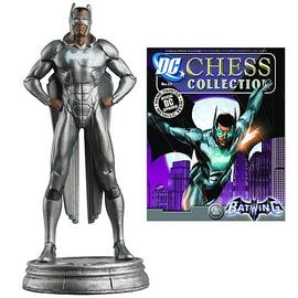 Batman - DC Superhero Batwing White Pawn Chess Piece with Magazine