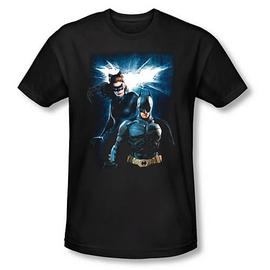 Batman - Dark Knight Rises Bat and Cat Black T-Shirt