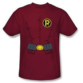 Batman - New 52 Robin Costume Red T-Shirt