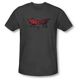 Batman - Dark Knight Rises Fear Logo Grey T-Shirt
