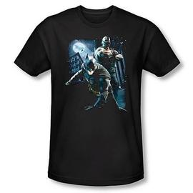 Batman - Dark Knight Rises Battlefield Gotham Black T-Shirt