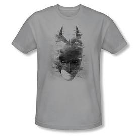 Batman - Dark Knight Rises Bat Head Gray T-Shirt