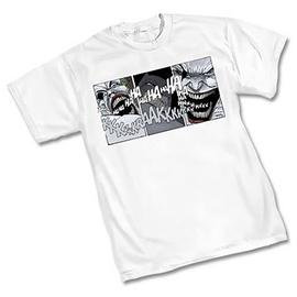 Batman - Dark Knight Comic Strip Joker White T-Shirt