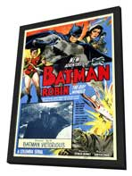 Batman and Robin - 11 x 17 Movie Poster - Style A - in Deluxe Wood Frame