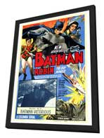 Batman and Robin - 27 x 40 Movie Poster - Style A - in Deluxe Wood Frame