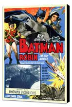 Batman and Robin - 11 x 17 Movie Poster - Style A - Museum Wrapped Canvas