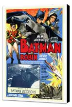 Batman and Robin - 27 x 40 Movie Poster - Style A - Museum Wrapped Canvas