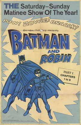 Batman and Robin - 11 x 17 Movie Poster - Style G