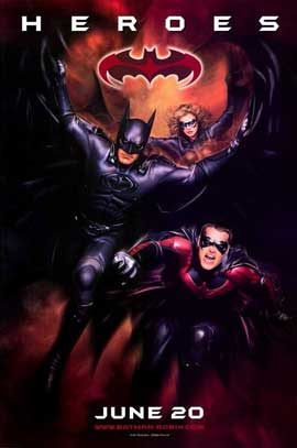 Batman and Robin - 11 x 17 Movie Poster - Style B