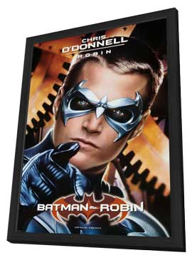 Batman and Robin - 27 x 40 Movie Poster - Style G - in Deluxe Wood Frame