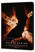 Batman Begins - 11 x 17 Movie Poster - Style C - Museum Wrapped Canvas
