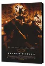 Batman Begins - 11 x 17 Movie Poster - Style F - Museum Wrapped Canvas