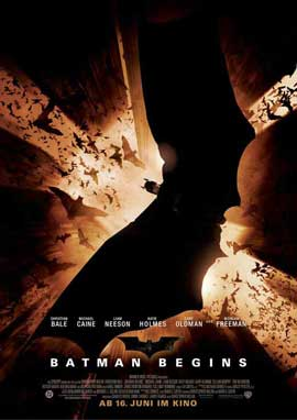 Batman Begins - 27 x 40 Movie Poster - German Style A