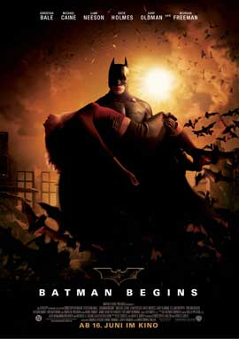 Batman Begins - 27 x 40 Movie Poster - German Style B