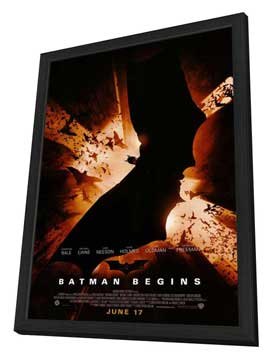 Batman Begins - 11 x 17 Movie Poster - Style C - in Deluxe Wood Frame