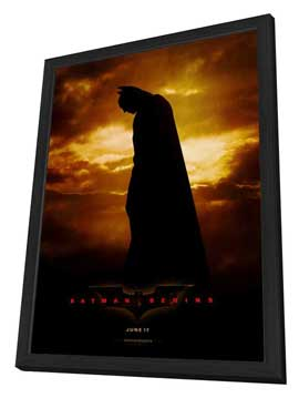 Batman Begins - 27 x 40 Movie Poster - Style A - in Deluxe Wood Frame