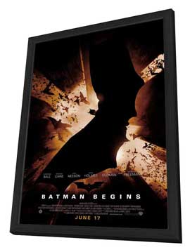 Batman Begins - 27 x 40 Movie Poster - Style F - in Deluxe Wood Frame