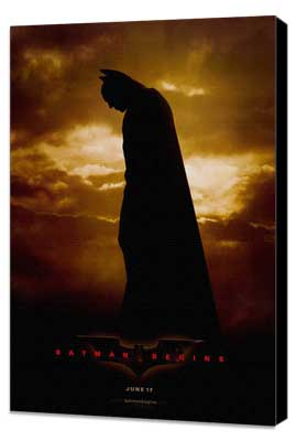 Batman Begins - 11 x 17 Movie Poster - Style A - Museum Wrapped Canvas