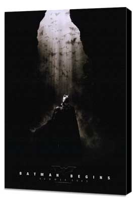 Batman Begins - 11 x 17 Movie Poster - Style B - Museum Wrapped Canvas