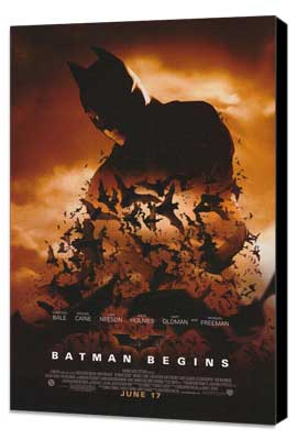 Batman Begins - 11 x 17 Movie Poster - Style D - Museum Wrapped Canvas