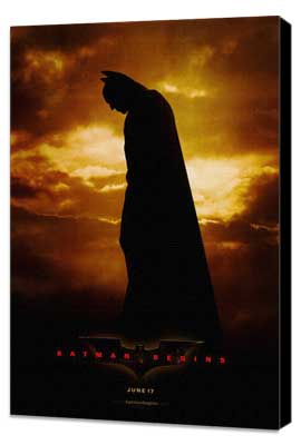 Batman Begins - 27 x 40 Movie Poster - Style A - Museum Wrapped Canvas